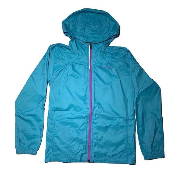 Columbia Womens Windbreaker Jacket Full Zip sz Lrg